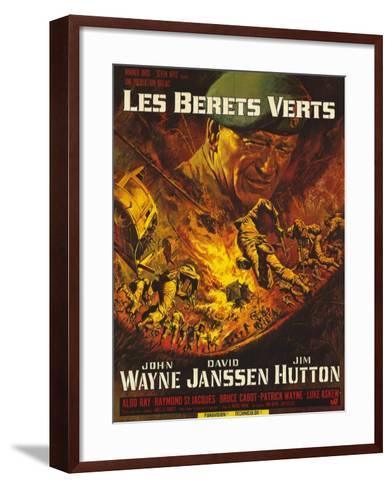 Green Berets, French Movie Poster, 1968--Framed Art Print