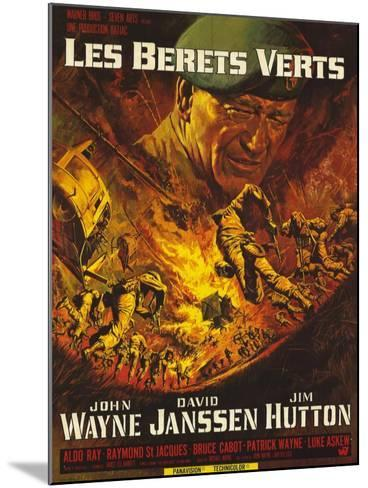 Green Berets, French Movie Poster, 1968--Mounted Art Print