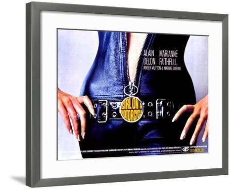 The Girl on a Motorcycle, 1968--Framed Art Print