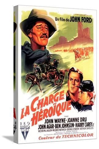 She Wore a Yellow Ribbon, French Movie Poster, 1949--Stretched Canvas Print