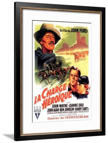 She Wore a Yellow Ribbon, French Movie Poster, 1949--Framed Art Print