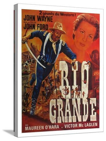 Rio Grande, French Movie Poster, 1950--Stretched Canvas Print
