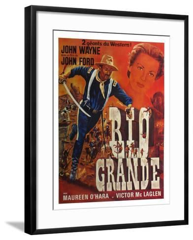 Rio Grande, French Movie Poster, 1950--Framed Art Print