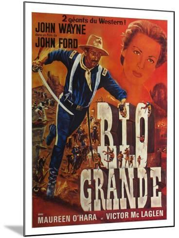 Rio Grande, French Movie Poster, 1950--Mounted Art Print