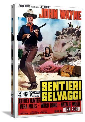 The Searchers, Italian Movie Poster, 1956--Stretched Canvas Print