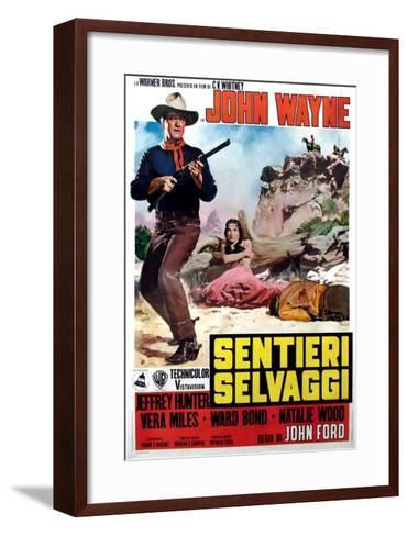 The Searchers, Italian Movie Poster, 1956--Framed Art Print