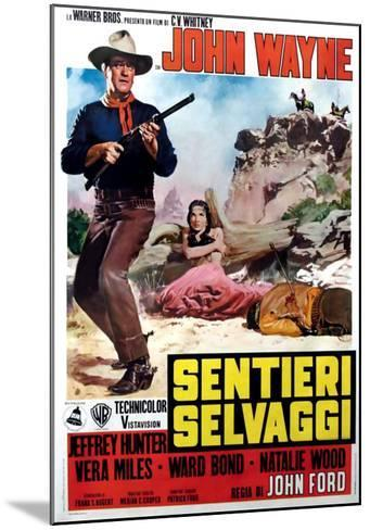 The Searchers, Italian Movie Poster, 1956--Mounted Art Print
