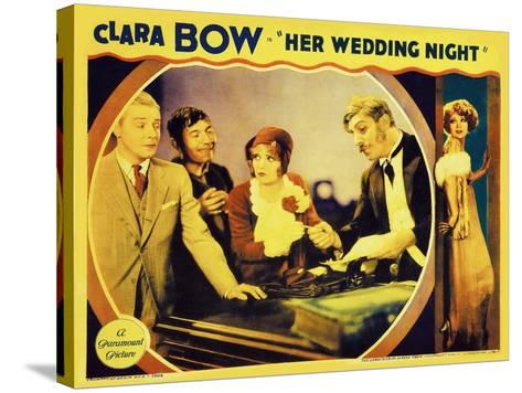 It's Her Wedding Night, 1930--Stretched Canvas Print