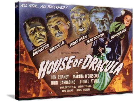 House of Dracula, 1945--Stretched Canvas Print