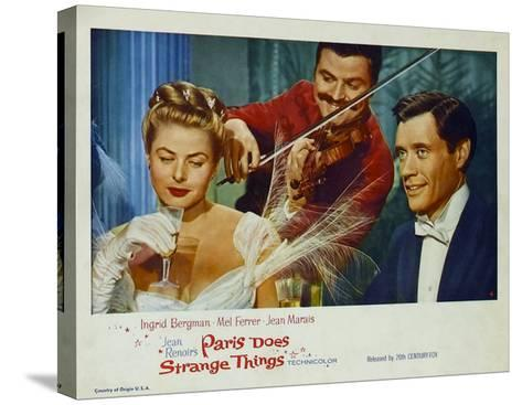 Paris Does Strange Things, 1956--Stretched Canvas Print