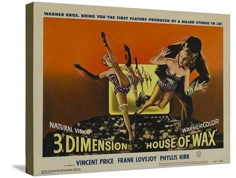 House of Wax, 1953--Stretched Canvas Print
