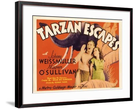 Tarzan Escapes, 1936--Framed Art Print