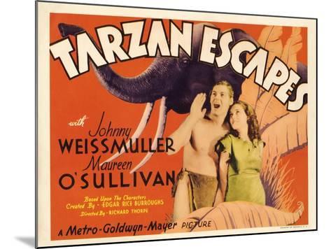 Tarzan Escapes, 1936--Mounted Art Print