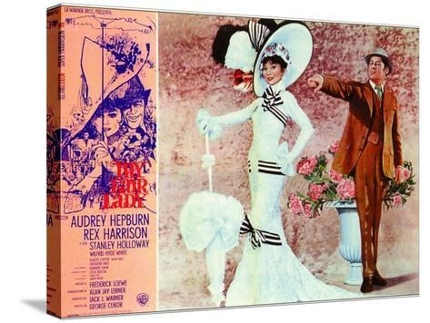 My Fair Lady, Italian Movie Poster, 1964--Stretched Canvas Print