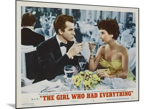 The Girl Who Had Everything, 1953--Mounted Art Print