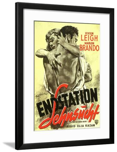 A Streetcar Named Desire German Movie Poster 1951 Framed Art Print