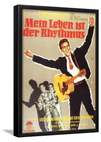 King Creole, German Movie Poster, 1958--Framed Art Print