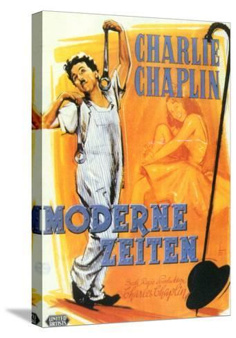 Modern Times, German Movie Poster, 1936--Stretched Canvas Print