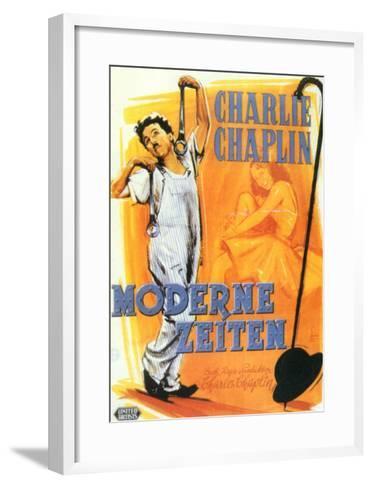 Modern Times, German Movie Poster, 1936--Framed Art Print