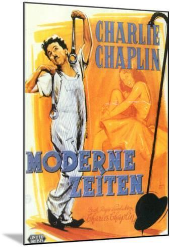 Modern Times, German Movie Poster, 1936--Mounted Art Print