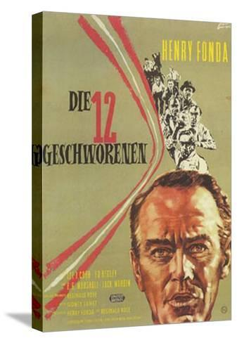 12 Angry Men, German Movie Poster, 1957--Stretched Canvas Print