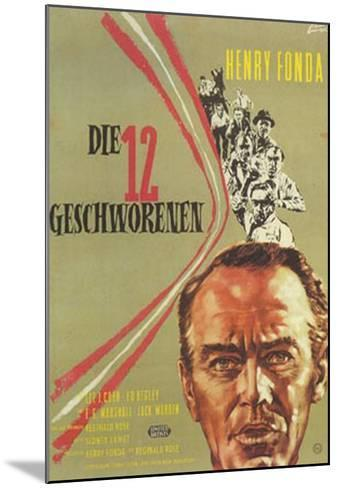 12 Angry Men, German Movie Poster, 1957--Mounted Art Print