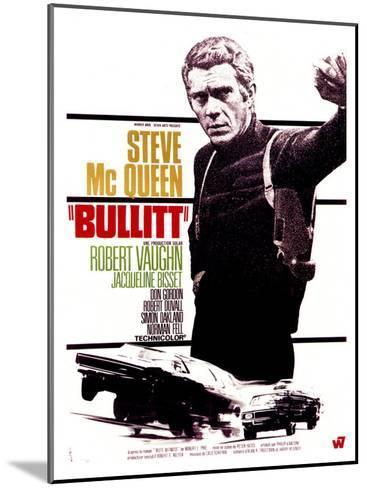 Bullitt, French Movie Poster, 1968--Mounted Art Print