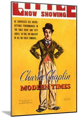 Modern Times, 1936--Mounted Art Print