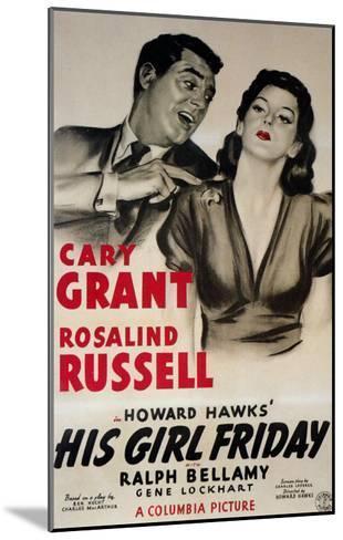 His Girl Friday, 1940--Mounted Art Print