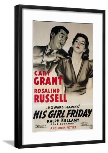 His Girl Friday, 1940--Framed Art Print