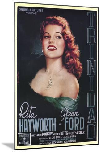 Affair in Trinidad, Italian Movie Poster, 1952--Mounted Art Print