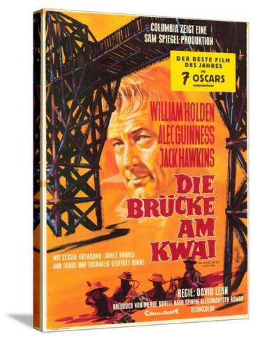 Bridge on the River Kwai, German Movie Poster, 1958--Stretched Canvas Print