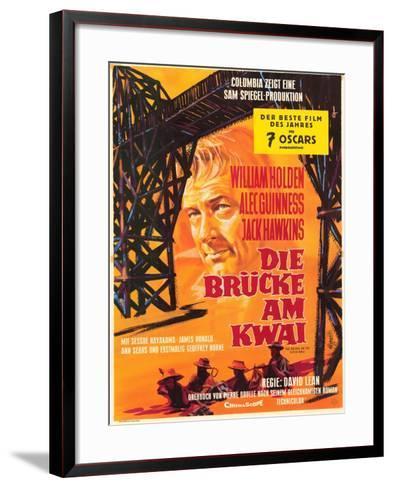 Bridge on the River Kwai, German Movie Poster, 1958--Framed Art Print