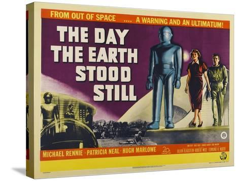 The Day The Earth Stood Still, UK Movie Poster, 1951--Stretched Canvas Print