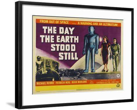 The Day The Earth Stood Still, UK Movie Poster, 1951--Framed Art Print