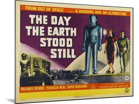 The Day The Earth Stood Still, UK Movie Poster, 1951--Mounted Art Print