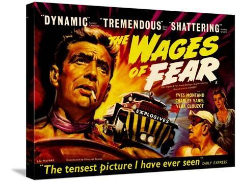Wages of Fear, UK Movie Poster, 1953--Stretched Canvas Print