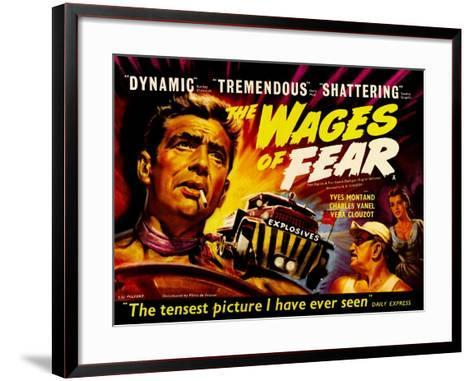 Wages of Fear, UK Movie Poster, 1953--Framed Art Print