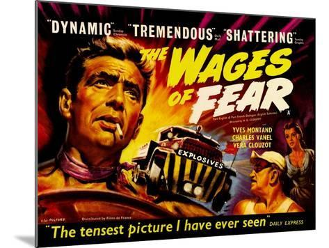 Wages of Fear, UK Movie Poster, 1953--Mounted Art Print