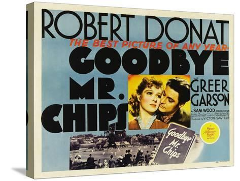 Goodbye Mr. Chips, UK Movie Poster, 1939--Stretched Canvas Print
