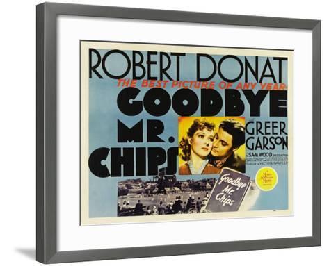 Goodbye Mr. Chips, UK Movie Poster, 1939--Framed Art Print