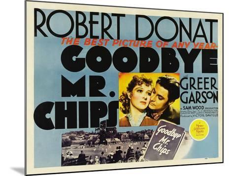 Goodbye Mr. Chips, UK Movie Poster, 1939--Mounted Art Print