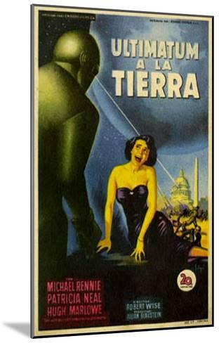 The Day The Earth Stood Still, Italian Movie Poster, 1951--Mounted Art Print