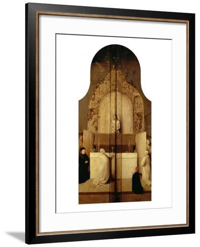 Triptych of the Epiphany (Mass of Saint Gregory)-Hieronymus Bosch-Framed Art Print