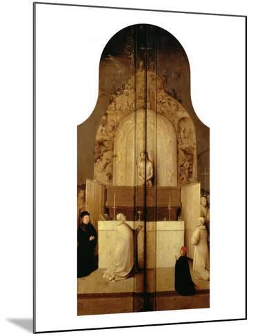 Triptych of the Epiphany (Mass of Saint Gregory)-Hieronymus Bosch-Mounted Giclee Print