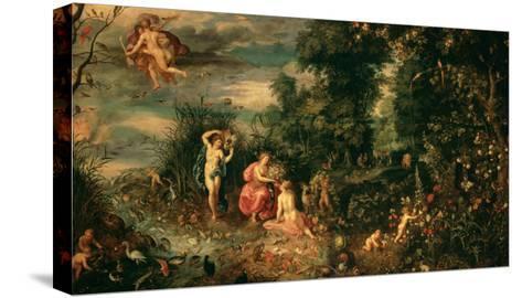 The Four Elements-Jan Brueghel the Elder-Stretched Canvas Print