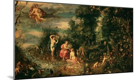 The Four Elements-Jan Brueghel the Elder-Mounted Giclee Print