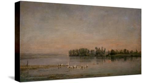 Morning-Charles-Francois Daubigny-Stretched Canvas Print