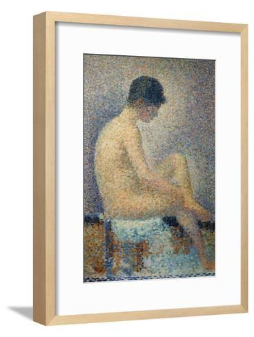 Model in Profile-Georges Seurat-Framed Art Print