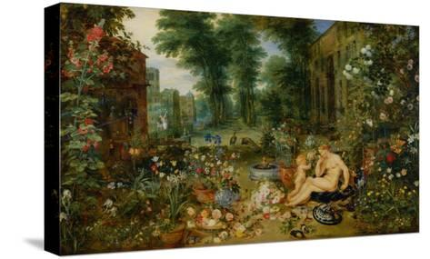 The Five Senses: Smell-Jan Brueghel the Elder-Stretched Canvas Print